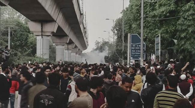 Jamia Students Protested Against Citizenship Amendment Bill In Delhi - Sakshi