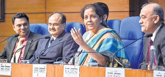 Nirmala Sitharaman press meet updates - Sakshi