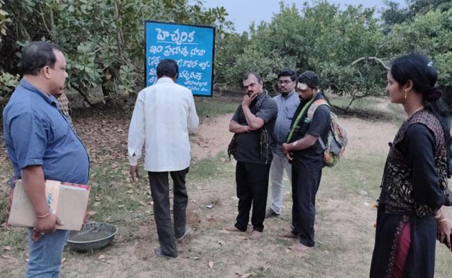 Possession Of Land Occupied By TDP Leader - Sakshi