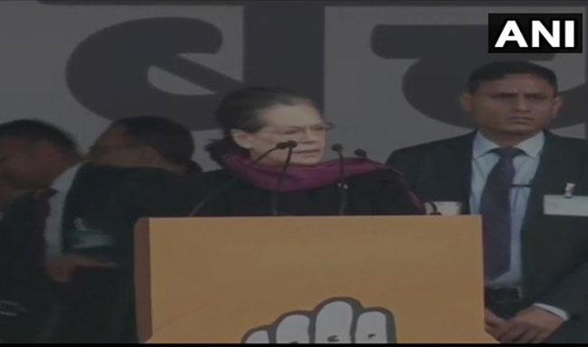 Hard Struggle Ahead to Save nation, says Sonia Gandhi - Sakshi