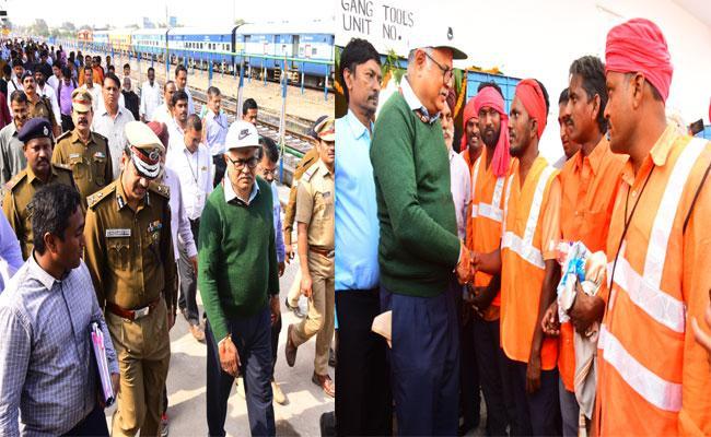 Railway GM Gajanan Mallya: New Trains Will Introduce In Adilabad - Sakshi
