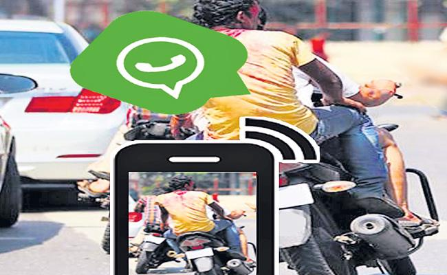 Traffic Violators Can Use Social Media Says Traffic Department In AP - Sakshi
