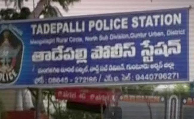 Man Suicide Attempt at Tadepalli Police Station - Sakshi