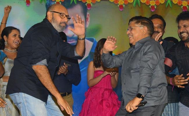 Allu Arvind Dance in Prati Roju Pandage Pre Release Event - Sakshi