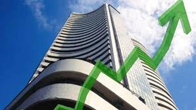 Sensex rises 428 points to to finish at 41,110 - Sakshi