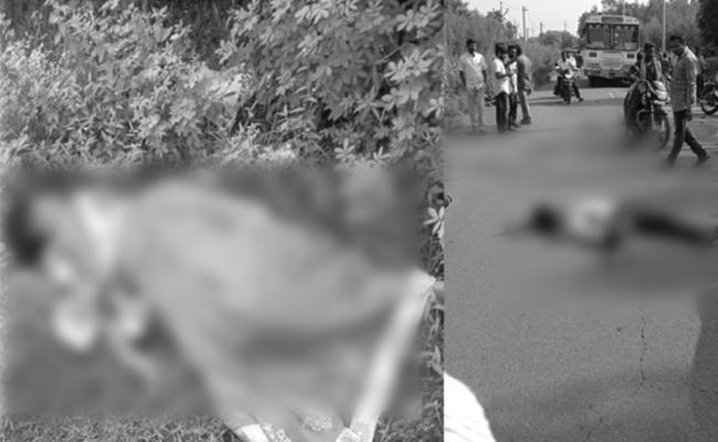 Couple Died in Bike Accident Visakhapatnam - Sakshi