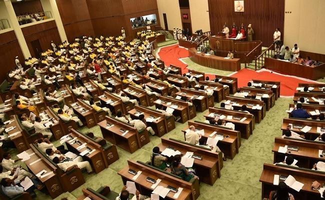 TDP Fails To Prove Swiss Challenge In Assembly - Sakshi