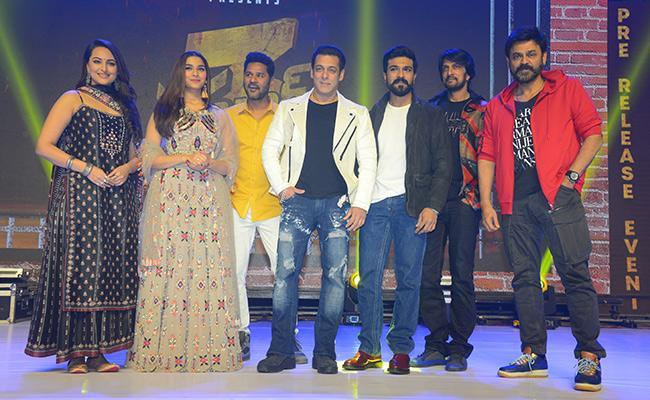 dabang 3 telugu version pre release event - Sakshi