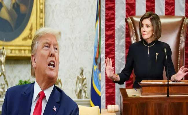 Trump Impeachment Nancy Pelosi Says He Gave Us No Choice - Sakshi