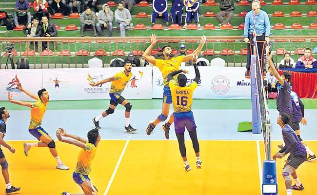 India Beat Sri Lanka In Volleyball Semifinals - Sakshi