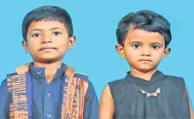 Two Children become Orphans With Parents suicide - Sakshi