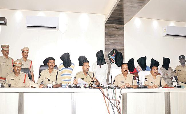12 people arrested for Farmland Case - Sakshi