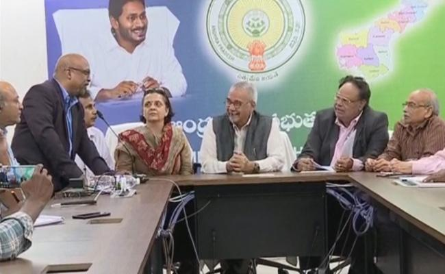 GN Rao Expert Committee Press Meet on AP Capital  - Sakshi