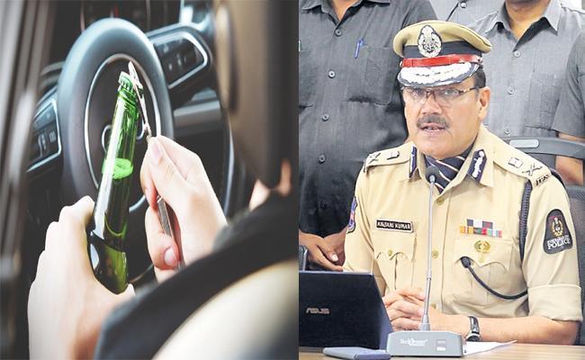 Challans And Prison Punishment on Drunk And Drive Case Hyderabad - Sakshi