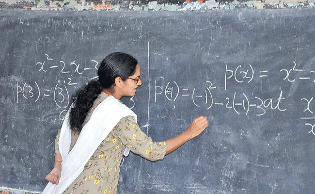 Vikarabad Collector Teaches Maths To 10th Students In Kodangal - Sakshi