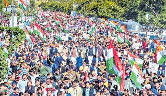 Protests against CAA continue across India - Sakshi