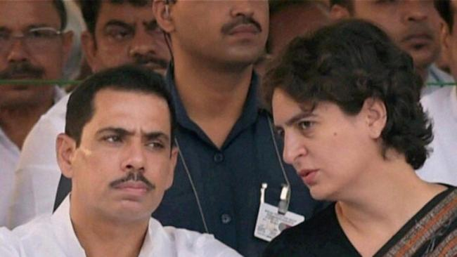 Robert Vadra supports wife Priyanka Gandhi After UP Police Manhandles Her - Sakshi
