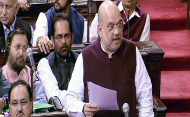Amit Shah Replies In Rajya Sabha Over SPG Bill - Sakshi