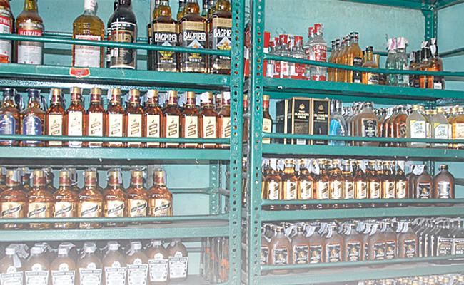 Heavily reduced alcohol sales - Sakshi