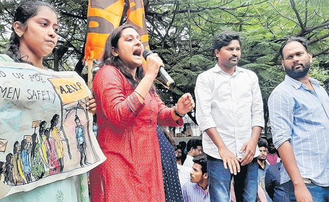 Justice For Disha: ABVP Protest Rally AT Dharna Chowk Hyderabad - Sakshi