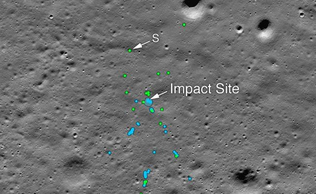 NASA Finds Vikram Lander Releases Images Of Impact - Sakshi
