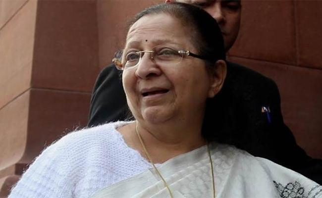 I Took the Support of the Congress: Sumitra Mahajan - Sakshi