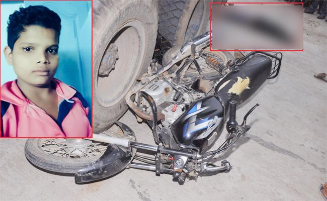 Student Died in Lorry Accident Prakasam - Sakshi