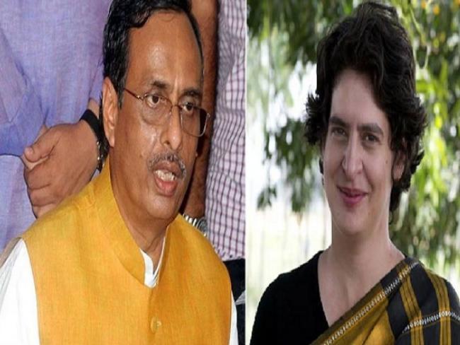 UP Deputy CM Hit Back On Priyanka Gandhi For Her Saffron Robe Comment - Sakshi