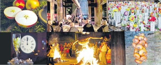 Traditions of people of different countries on new year - Sakshi
