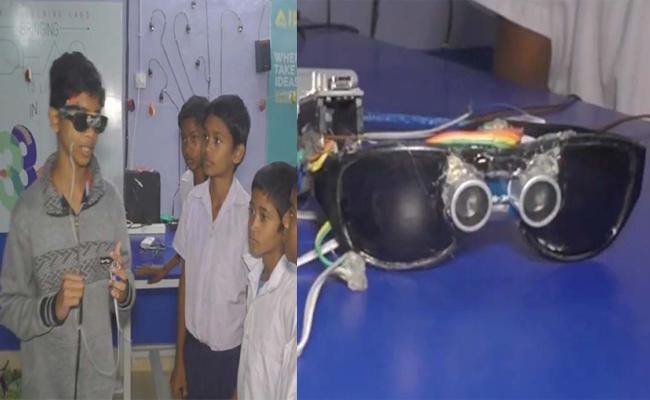 Student Innovative Guiding Sensor Glasses For Blind People Odisha - Sakshi