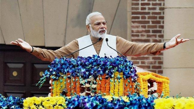 Narendra Modi launches BJP campaign India Supports CAA  - Sakshi