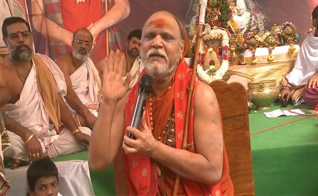 Swaroopanandendra Saraswati Held Chandi Yagam At Sharada Peetham - Sakshi