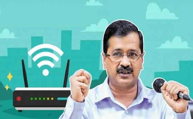 11,000 Wi-Fi-hotspots will be Set up across Delhi, says CM Arvind Kejriwal - Sakshi