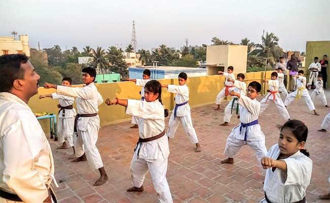 Martial Arts In Telangana Public Schools - Sakshi