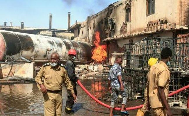 Indians among18 killed in factory fire in Sudan - Sakshi