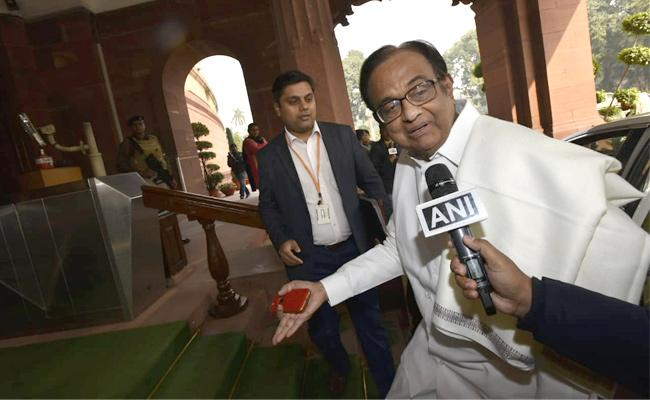 Chidambaram In Parliament Day After Release From Jail - Sakshi