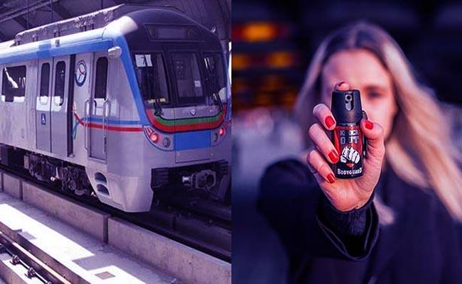 Pepper Spray Will Be Allowed In Metro Trains By Women In Hyderabad  - Sakshi