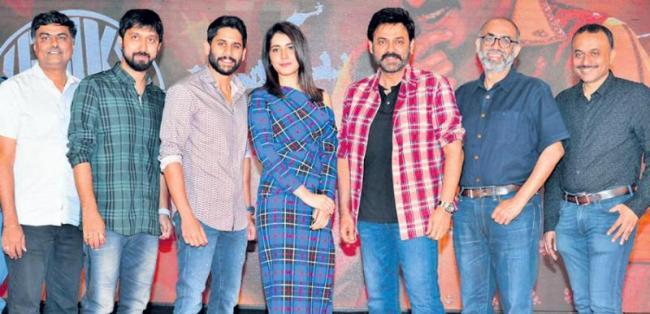 Venkatesh Gets Emotional at Venky Mama Movie Press Meet - Sakshi
