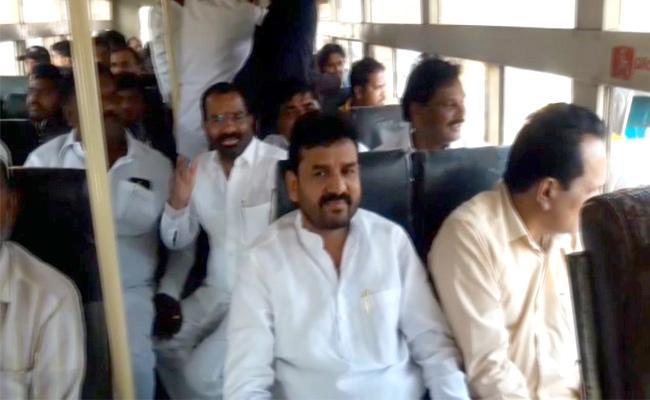 Vikarabad MLA Methuku Anand Travels in TSRTC Bus  - Sakshi
