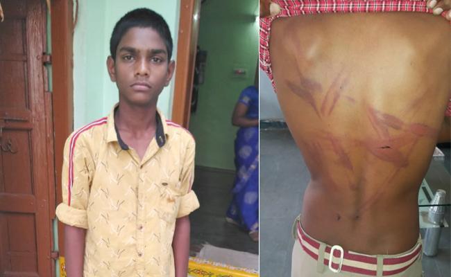 School Owner Beaten Student in Nizamabad Armoor - Sakshi
