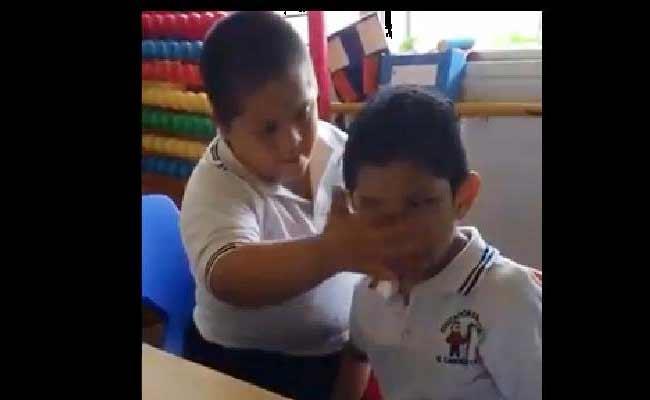Viral Video Boy Gesture Towards Classmate Applauded - Sakshi