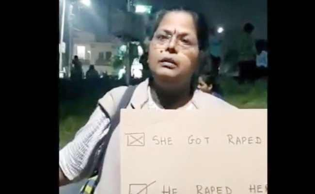 Viral Video Woman Says Men Should Stay Home Over Molestation - Sakshi