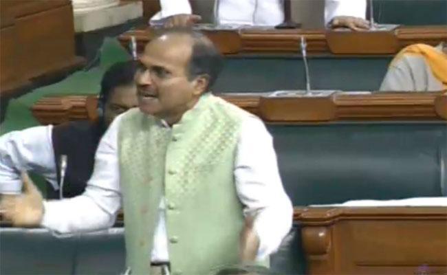 Adhir Ranjan Controversial Comments In Lok sabha - Sakshi