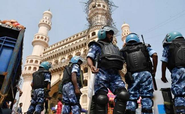 State And Central Force in Hyderabad For Black Day - Sakshi