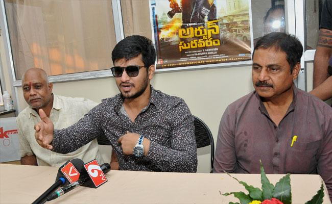 Arjun Suravaram Hero Nikhil And Movie Unit In Vizianagaram - Sakshi