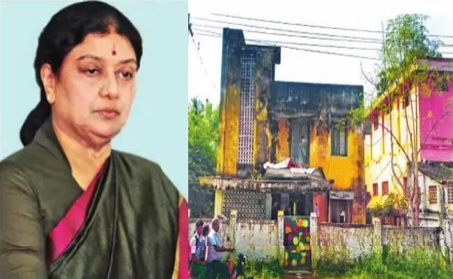 Thanjavur Corporation Officials Notice to Sasikala Tamil Nadu - Sakshi