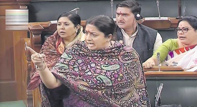 Union Minister Smriti Irani speaks on Hyderabad, Unnao case - Sakshi