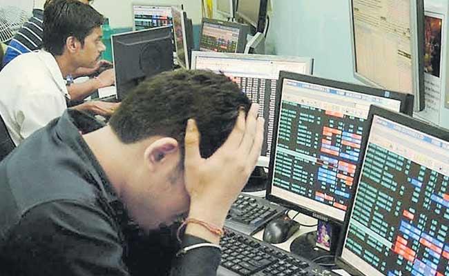 Sensex Cracks Over 334 Pts And Nifty Tumbles Below 12000 - Sakshi