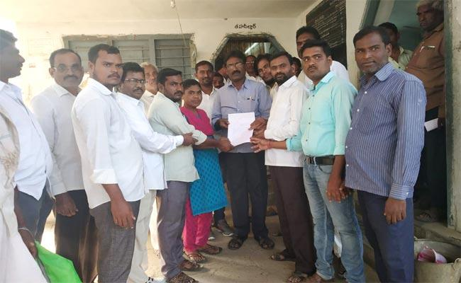 All Party Leaders Complaint To MRO Over Tekula Laxmi Accused Persons - Sakshi