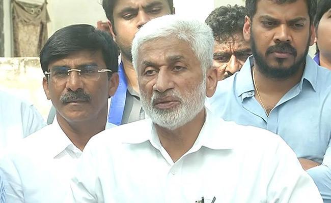 YSRCP MP Vijay Sai Reddy Press Meet At Tadepalli - Sakshi